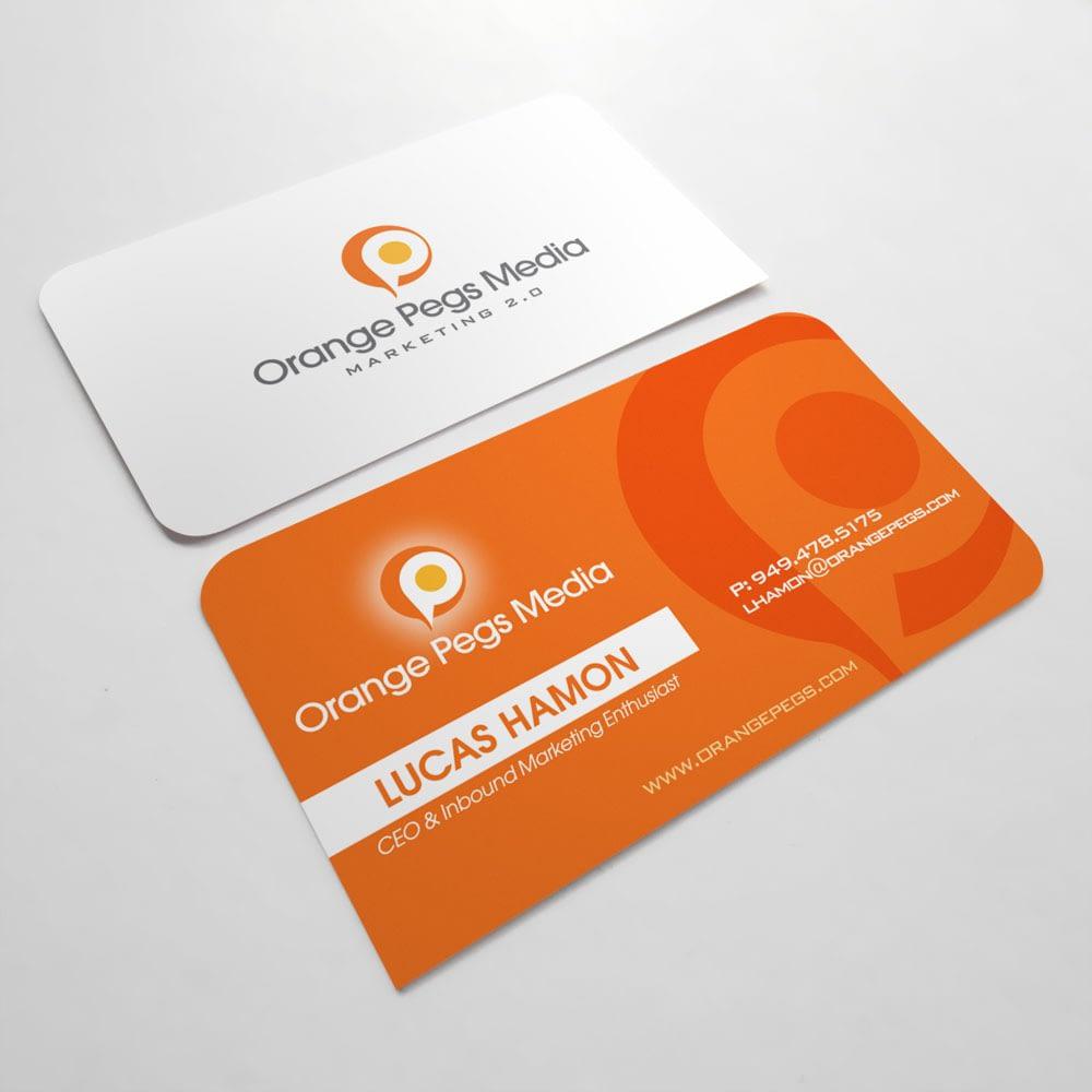 Orange Pegs Media-Business Cards