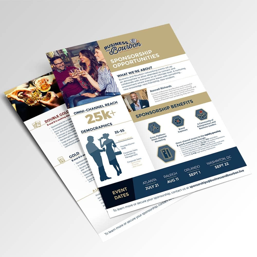 Business and Bourbon Sponsorship Sales Sheet